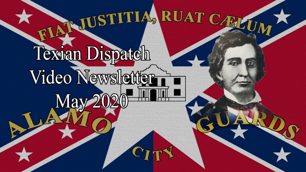 Texian Dispatch Video Newsletter May 2020: Antebellum Banjo