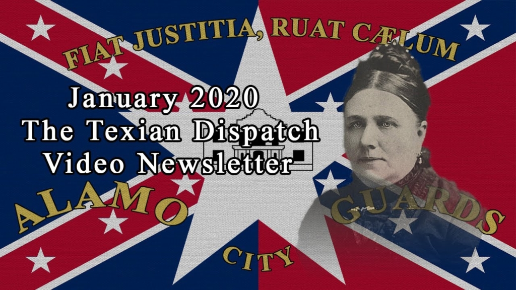 Texian Dispatch Video Newsletter January 2020- Carrie McGavock