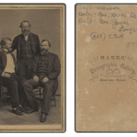 General_Xavier_Blanchard_DeBray_(center),_General_James_Longstreet_(right),_and_Unidentified_Person,_Confederate_States_Army_(6280263175)
